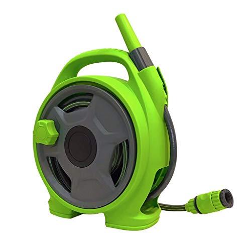 ChengLao - Schlauchhaspel Gartenschlauch, beweglicher Schlauch Auto-Wasser-Rohr Gartenbewässerung Artifact, HauptGardening Bewässerung PVC-Schlauch Storage Rack (Color : Green)