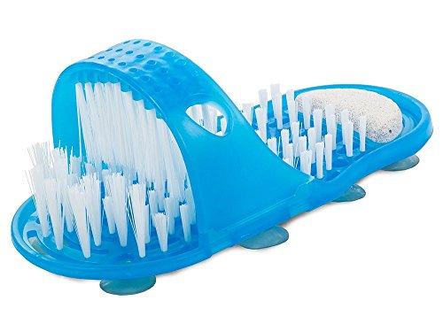 HUKITECH@ Fußbürste - Reinigung & Massage für Füße - Fußpflege Bürste Waschbürste Fußmassage Hornhautentferner Feile Massager Slipper