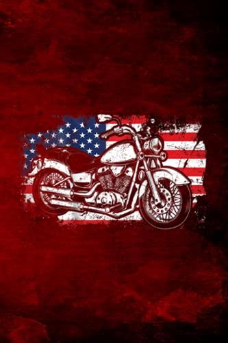 Outfit Planner Log Book Motorcycle Biker America Flag Patrio.tic Grunge