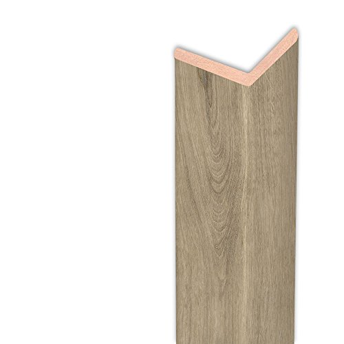 Winkelleiste Schutzwinkel Winkelprofil Tapeten-Eckleiste Abschlussleiste Abdeckleiste aus MDF in Eiche Geräuchert 2600 x 32 x 32 mm