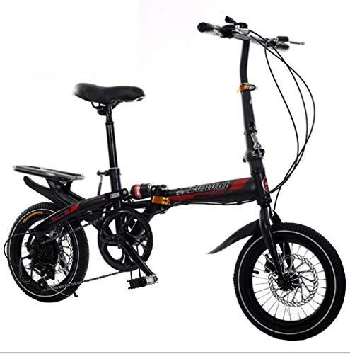 """TX Bici Piega 20""""4.0 Fat Tire ebike Pieghevole in Alluminio Potente Bicicletta Mountain/Neve/Spiaggia,Black,16inch"""
