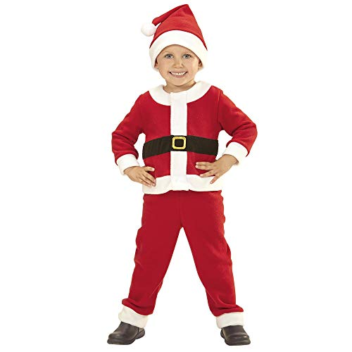 Widmann-Babbo Natale Costume per Bambini, Multicolore, (98 cm   1-2 Anni), 14922