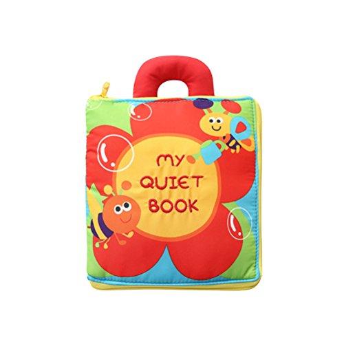 TOYMYTOY Stoffbuch Baby Blumen Weiches Bilderbuch Pädagogische Spielbuch mit Griff Stoffspielzeug