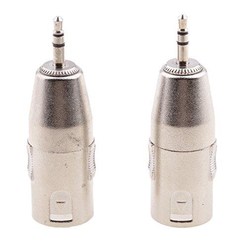 HomeDecTime Conector de Audio Estéreo de 2 X 3,5 Mm Macho a Conector de Micrófono XLR Macho de 3 Pines