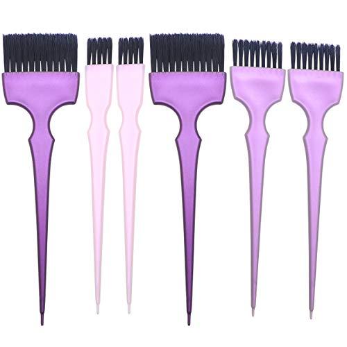 Pixnor 2 Ensembles de Brosses de Teinture Capillaire Brosse de Teinte de Cheveux Poignée Salon de Coiffure Cheveux Décolorants Brosses pour Salon de Coiffure Bricolage Utilisation Salon