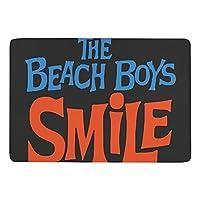 The Beach Boys ザ・ビーチ・ボーイズ 文字 SMILE カーペット ラグ ラグマット 滑り止め 防ダニ 抗菌防臭 ふわふわ 年中使え 手触りよく フランネル 防音 玄関 廊下 引越しプレゼント 折畳み 洗濯機対応可 長方形 絨毯 100*150cm
