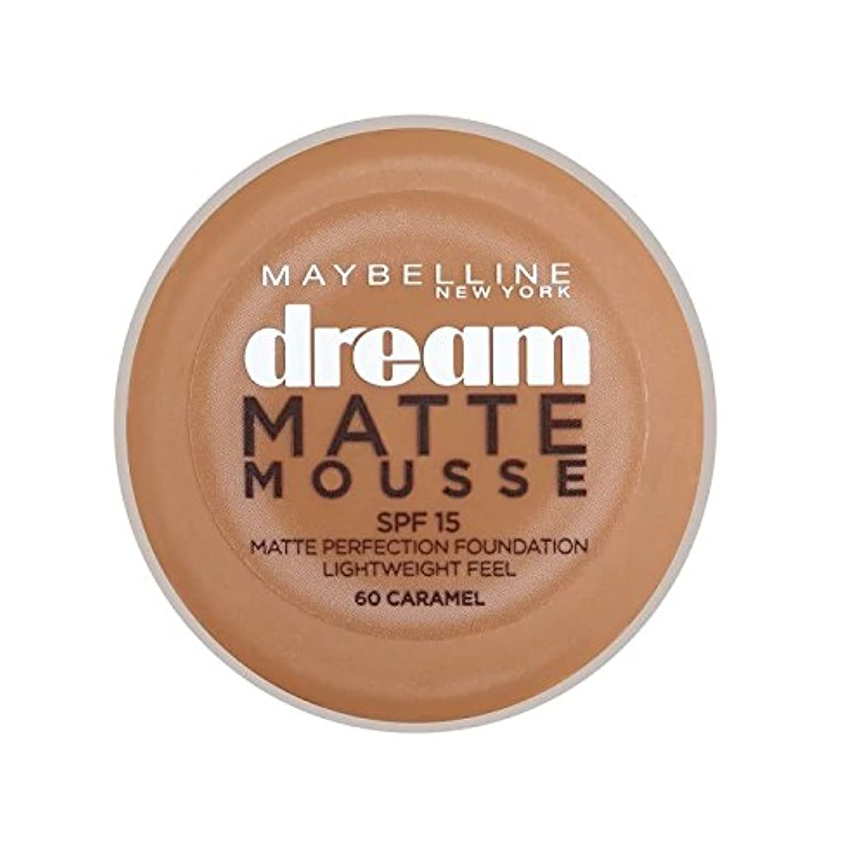 トースト抗生物質重要なMaybelline Dream Matte Mousse Foundation 60 Caramel 10ml - メイベリン夢のマットムース土台60キャラメル10ミリリットル [並行輸入品]