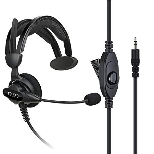 COODIO Cobra Radio Auriculares 1 Pin Micro-Auricular Micrófono [Cancelación de Ruido] Microfono Seguridad y Bodyguard para Cobra Walkie Talkie