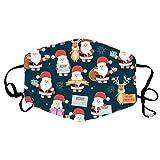 DOLLAYOU Adult Christmas Cute Print, speichelsicher, staubdicht, atmungsaktiv, waschbar, wiederholte Verwendung(Z 10 Stück)