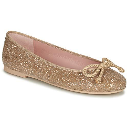 Pretty Ballerinas Belle Sand Ballerinas Damen Gold - 38 - Ballerinas Shoes