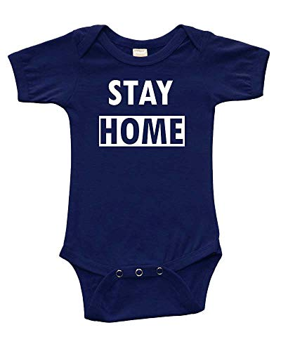 PandoraTees Stay Home Outfit (Navy, 3-6m)