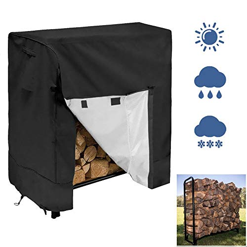 For Sale! Home & Comforts 4FT Log Rack Cover Outdoor Patio Firewood Storage Holder Protector - Heavy...