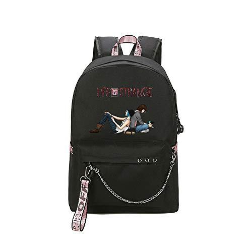 Life is Strange Daypacks Klassischer Rucksack-wasserfester Campus-Schulreise-Daypack-Geschäfts-Rucksack für Frauen Unisex (Color : Black01, Size : 30 X 13 X 43cm)