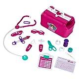 Theo Klein- Borsa da Medico Barbie, con termometro Luminosa e Funzione Sonora, 18 Pezzi, 4...