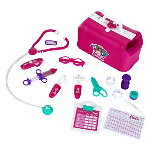 Theo Klein- Borsa da Medico Barbie, con termometro Luminosa e Funzione Sonora, 18 Pezzi, 4601