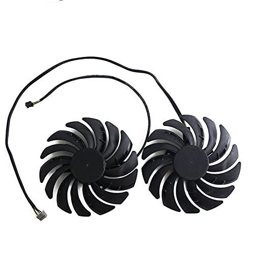 95mm PLD10010B12HH RTX2070 X-8G Fan del Enfriador para GeForce MSI RTX 2070 para EL Ventilador DE Enfoque DE LA Tarjeta DE Gaming Z (Blade Color : 2PCS)