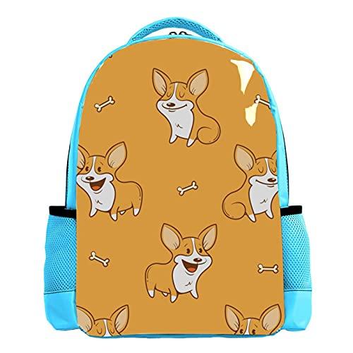 Mochila azul de la escuela del muchacho de la mochila de los libreros de los hombres del bolso del viaje del bolso del día divertido de la historieta cor