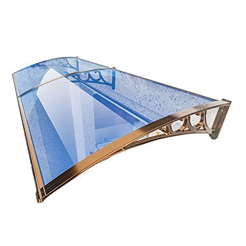 Auvent De Porte Et Fenêtres Store Marquise Solaire 2,5mm Polycarbonate Incassable Panneaux De Toit Couverture De Terrasse Extérieure Protection Contre La Pluie Et La Neige
