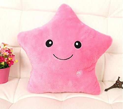 Rainbow Fox–luce led rosa giallo bianco lilla, morbido cuscino in peluche con luce a LED, colori disponibili: rosa, giallo, bianco, lilla, blu pink
