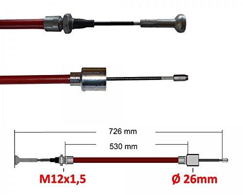 2 x ALKO Longlife Schnellmontage 247282 Länge: 530mm/726mm Anhänger Bremsseil