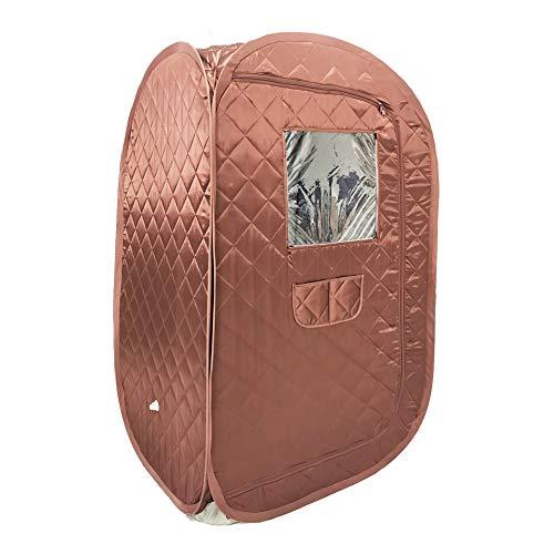 Smartmak tragbares Saunazelt, faltbar, für eine Person, Ganzkörper-Spa für Gewichtsverlust, Detox-Therapie ohne Dampfer