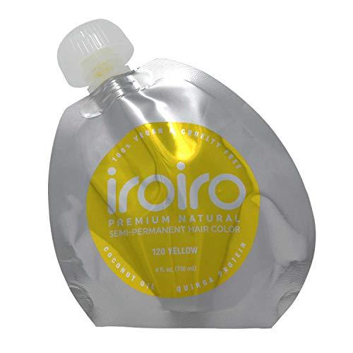 Iroiro Premium Natural Semi-permanenten Haar Farbe 120Iro-Gelb (8oz)