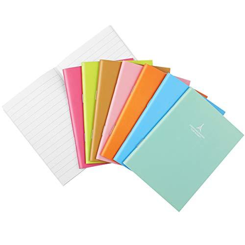 STOBOK Klein Notizblock Liniertes Notizbuch Journal Tagebuch Memo Notepad Schulhefte 8 Candy Farbe 24 Stück