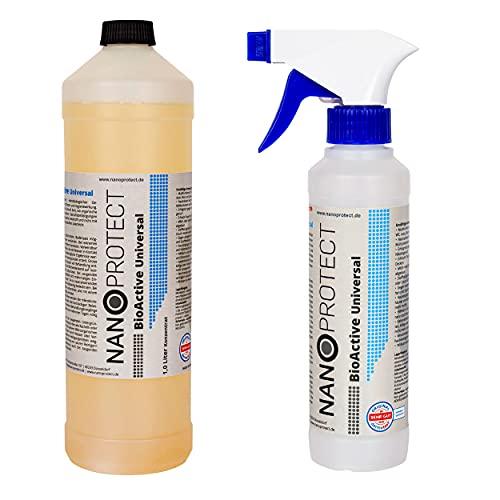BioActive Geruchsneutralisierer Konzentrat | Biologischer Geruchsentferner mit speziellem Wirkbeschleuniger | Starter Set für 2 Liter | Natürlich & Hygienisch