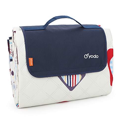 Yodo Picknick-Decke, extragroß, maschinenwaschbar, für Familie, Outdoor, Camping, Strand, Wandern, Festivals, Konzerte, Blöcke