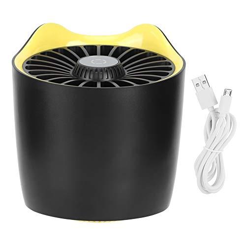 Oumefar Luz silenciosa para Trampa de Insectos para electrodomésticos de bajo Ruido, lámpara asesina de Mosquitos fácil de operar para Dormitorio de Oficina(Black)