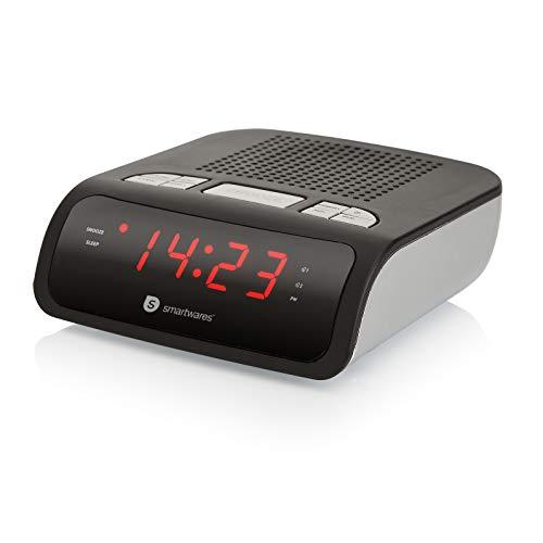 Smartwares CL-1459 – Reloj despertador con dos alarmas, radio FM
