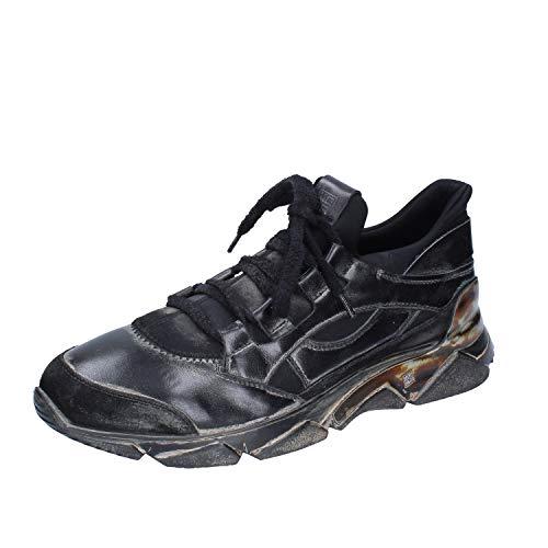 MOMA Sneakers Herren Leder schwarz 42 EU