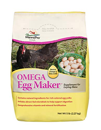 Manna Pro Omega Egg Maker | Formulated with Vitamins & Minerals | 5 Pounds