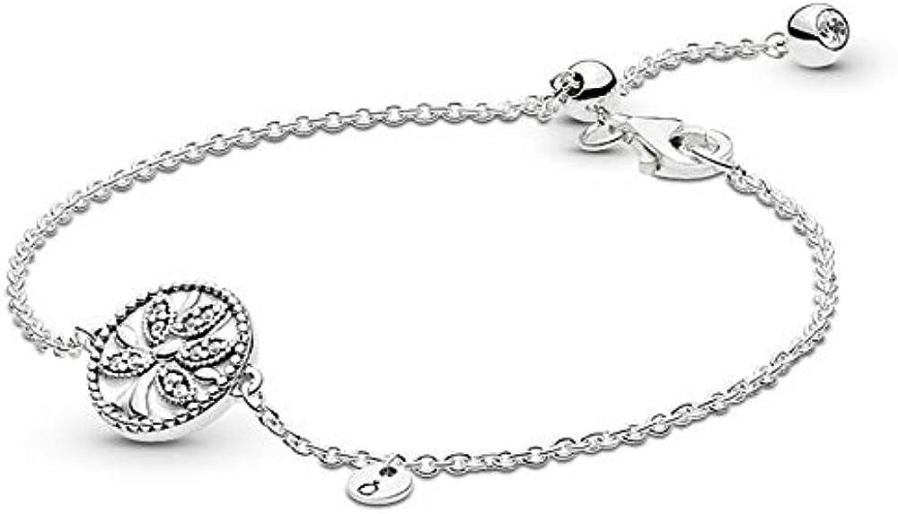 Pandora bracciale da donna albero della famiglia scintillante in argento sterling 925 597776CZ-20