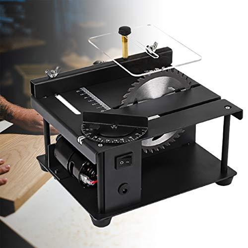 ZPCSAWA Mini Sierra de Mesa, Multifuncional Mesa de Corte para Madera, 180w Hogar 40mm MÁquina de Grabado y Pulido de Corte para Manualidades de Modelos de CarpinterÍa DIY
