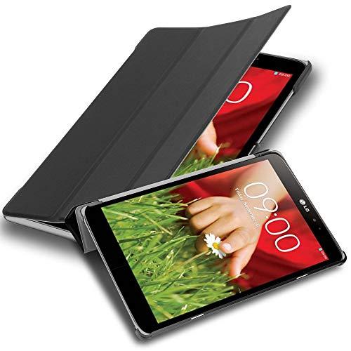Cadorabo Tablet Hülle für LG G Pad 8.3 V500 in Satin SCHWARZ – Ultra Dünne Book Style Schutzhülle mit Auto Wake Up & Standfunktion aus Kunstleder