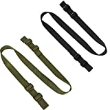 Accmor Rifle Sling Gun Sling, 2 Pack Traditional Sling 2 Point Sling for Outdoor Sports (Black + Green)