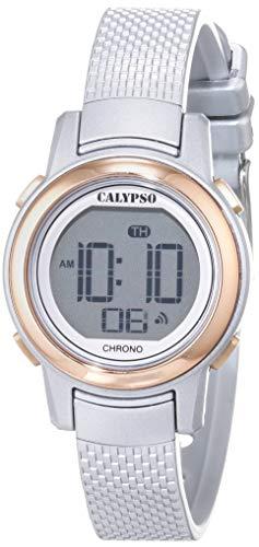 Calypso Damen Digital Quarz Uhr mit Plastik Armband K5736/2