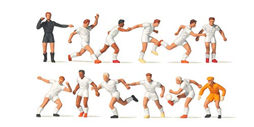 Preier 10762 Fussballmannschaft weiße Trikots und weiße Hosen H0 Neu