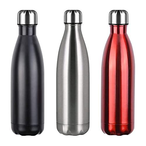 flintronic Botella de Agua Acero Inoxidable 750ml, Estanqueidad, Acero Inoxidable sin BPA Doble Pared al vacío Termo para Sport Gimnasio Trekking Bicicleta, Cepillo de Limpieza Incluido