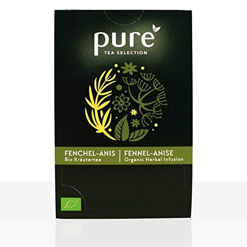 Pure Tea Selection Fenchel Anis Bio | Bio-Kräutertee | 100 % Bio-zertifiziert | 100% natürliche Zutaten | 25 Teebeutel aus Maisstärke gewebt und industriell kompostierbar | 25 x 2,5g