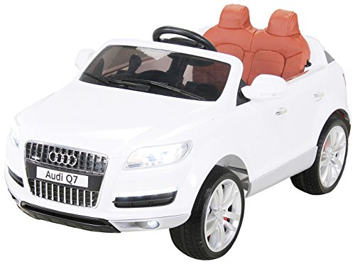 Actionbikes Motors Kinder Elektroauto Audi Q7 4L - Lizenziert - 2 x 45 Watt Motor - 2,4 Ghz Rc Fernbedienung - USB - Mp3 - Elektro Auto für Kinder ab 3 Jahre (Weiß)