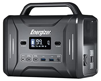Energizer Portable Power Station 320Wh/300W Solar Generator Fast Charging by LiFePO4 Batteries,Multiple Charging Ports and LED Flashlight Emergency Power Supply for Indoor/Outdoor/Camping/Clambing