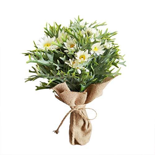 Liujingxue Ramo de Margaritas Blancas simulación de Flores para decoración de Ventanas de casa o Tienda