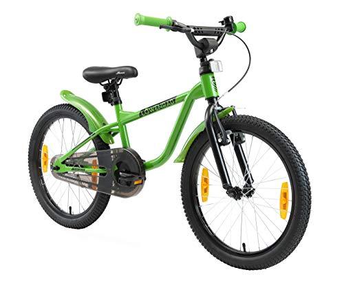 LÖWENRAD Kinderfahrrad für Jungen und Mädchen ab 6 Jahre   20 Zoll Kinderrad mit Bremse   Fahrrad für Kinder   Grün