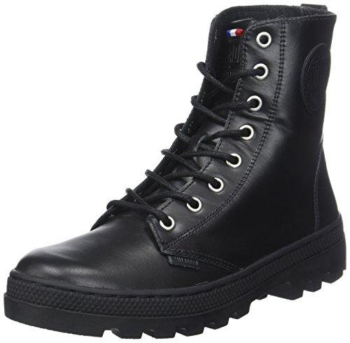 Palladium Damen Plboss of Lea W Hohe Sneaker, Schwarz (Black), 41 EU