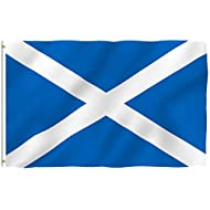 Anley Fly Breeze 3x5 Foot Scotland Flag - Vivid Color and Fade Proof - Canvas Header and Double Stitched - Scottish National Flags Polyester with Brass Grommets 3 X 5 Ft