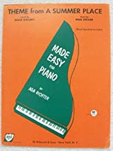 Theme From A Summer Place. For Piano (Easy)