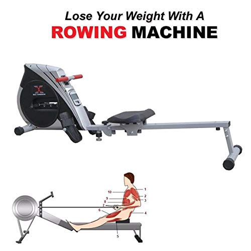 Max Strength Folding Rowing Machine Home Gym Rower Fitness Cardio