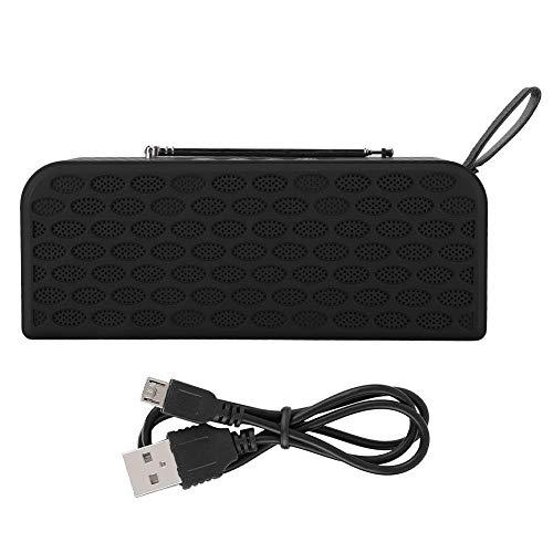 A sixx Wiederaufladbarer Musik-Player, 3,5-mm-Radio, Lautsprecher, für den Außenbereich, für zu Hause,